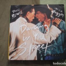 Discos de vinilo: DAVID BOWIE AND MICK JAGGER ‎ DANCING IN THE STREET. Lote 245531190