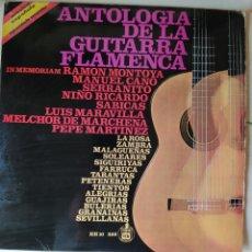 Discos de vinilo: ANTOLOGÍA DE LA GUITARRA FLAMENCA- DISCO VINILO LP-VARIOS ARTISTAS- MANUEL CANO, SERRANITO, NIÑO ROC. Lote 245542850