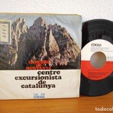 Discos de vinilo: EP CANÇONS DE MUNTANYA - CENTRE EXCURSIONISTA CATALUNYA - EDIGSA (1967). Lote 245588615
