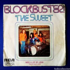 Discos de vinilo: THE SWEET - BLOCBUSTER - SINGLE. Lote 245618755