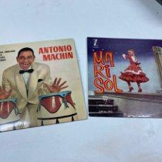 Discos de vinilo: SINGLES MARISOL Y ANTONIO MACHIN. Lote 245620155