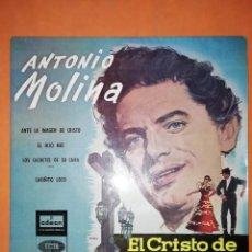 Discos de vinilo: ANTONIO MOLINA. EL CRISTO DE LOS FAROLES. ODEON EMI 1958. Lote 245625600