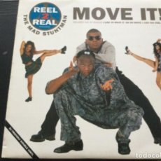 Discos de vinilo: REAL 2 REAL - MOVE IT ! . I LIKE TO MOVE IT, GO ON MOVE , CAN YOU FEEL IT ....2LP. Lote 245625670