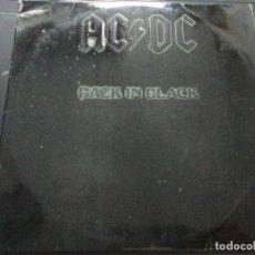 Discos de vinilo: AC/DC BLACK IN BLACK. Lote 245628885