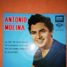 Discos de vinilo: ANTONIO MOLINA. LA HIJA DE JUAN SIMON. ODEON EMI 1964. Lote 245636270