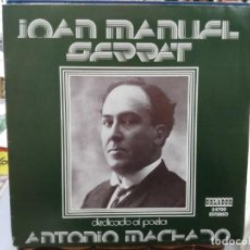 Discos de vinilo: JOAN MANUEL SERRAT - DEDICADO A ANTONIO MACHADO, POETA - LP. DEL SELLO ORLADOR 1975. Lote 245639450