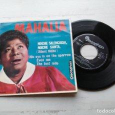 Discos de vinilo: MAHALIA JACKSON – NOCHE SILENCIOSA, NOCHE SANTA (SILENT NIGHT) + 3 EP 1963 VINILO VG+/PORTADA VG+. Lote 245639510