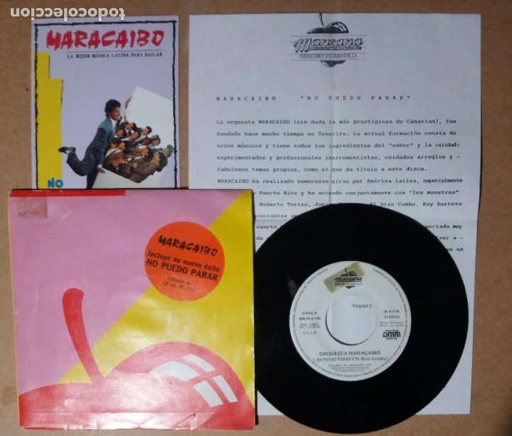 ORQUESTA MARACAIBO / NO PUEDO PARAR / SINGLE 7 PULGADAS (Música - Discos - Singles Vinilo - Orquestas)