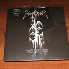 Discos de vinilo: (SIN ABRIR) EMPEROR - LIVE AT WACKEN OPEN AIR 2006 - A NIGHT OF EMPERIAL WRATH (2LP 180 GRAMOS AZUL). Lote 245643685