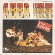 Discos de vinilo: ABBA - FERNANDO / INTERMEDIO Nº 1 (SINGLE ESPAÑOL, CARNABY RECORDS 1976). Lote 245646280