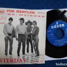Discos de vinilo: BEATLES SINGLE EP EDITADO POR EMI ODEON ESPAÑA BANDA SONORA PELICULA SOCORRO. Lote 245646510