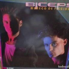 Discos de vinilo: BICEPS - MUÑECO DE FICCIÓN / LA FIESTA FINAL - MAXI SINGLE DEL SELLO EPIC 1985. Lote 245647205