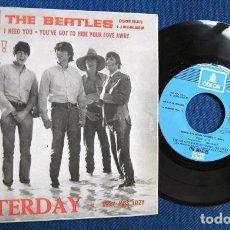 Discos de vinilo: BEATLES SINGLE EP RE EDICION BANDA SONORA SOCORRO EMI ODEON ESPAÑA EXCELENTE. Lote 245648040
