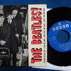 Discos de vinilo: BEATLES SINGLE EP EDITADO POR EMI ODEON ESPAÑA AÑOS 60 PRIMERA EDICION CONTRAPORTADA. Lote 245649050