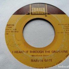 Discos de vinilo: MARVIN GAYE – I HEARD IT THROUGH THE GRAPEVINE SINGLE TAMLA USA 1968 VG. Lote 245655825