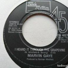 Discos de vinilo: MARVIN GAYE – I HEARD IT THROUGH THE GRAPEVINE SINGLE TAMLA 1986 VG++ REED. 1986. Lote 245712830