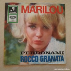 Discos de vinilo: ROCCO GRANATA - MARILOU / PERDONAMI - RARO SINGLE CON TRICENTRO - ALEMANIA - VINILO COMO NUEVO. Lote 245723785