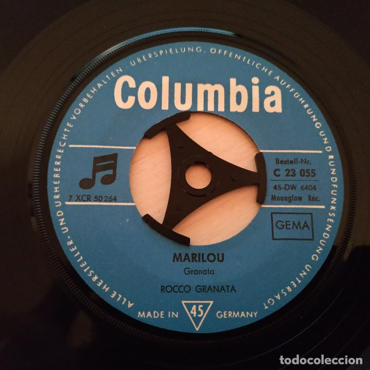 Discos de vinilo: ROCCO GRANATA - MARILOU / PERDONAMI - RARO SINGLE CON TRICENTRO - ALEMANIA - VINILO COMO NUEVO - Foto 3 - 245723785