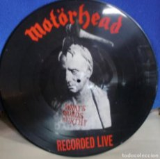 Discos de vinilo: MOTORHEAD - WHAT'S WORD WORTH RECORDED LIVE PICTURE DISC GERMANY 1984. Lote 245723820