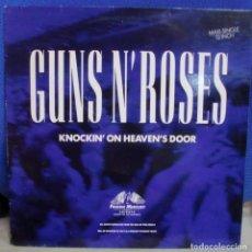 Discos de vinilo: GUNS AND ROSES - KNOCKIN' ON HEAVEN'S DOOR MAXI SINGLE SPAIN 1992. Lote 245723920