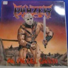 Discos de vinilo: PANZER - AL PIE DEL CAÑON LP + INSERT SPAIN 1982. Lote 245724125