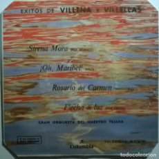 Discos de vinilo: EXITOS DE VILLENA Y VILLELLAS. SIRENA MORA/ OH MARIBEL/ ROSARIO DEL CARMEN/ FLECHA DE LUZ. 1961 EP. Lote 245738750