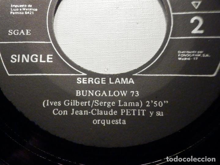 Discos de vinilo: Serge Lama - Un jardin sur la Terre - Bungalow 73 - Philips 1971 - Foto 3 - 245745720