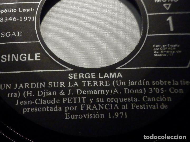 Discos de vinilo: Serge Lama - Un jardin sur la Terre - Bungalow 73 - Philips 1971 - Foto 4 - 245745720