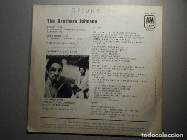 Discos de vinilo: The Brothers Johnson - Stomp! - Let´s Swing - AM Records 1980 - Foto 2 - 245745870