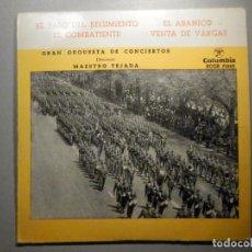 Discos de vinilo: MARCHAS E HIMNOS - EL PASO DEL REGIMIENTO - EL ABANICO, EL COMBATIENTE - ORQUESTA MAESTRO TEJADA. Lote 245746055