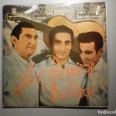 Discos de vinilo: LOS PAQUIROS Y MOLINA - MONTILLA - LA VIOLETERA, UN HOMBRE DEL CAMPO, ROMANCE DE VALENTÍA, ZAFIRO. Lote 245746085
