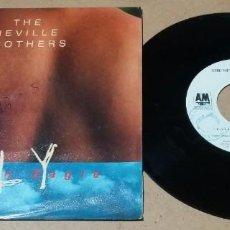 Discos de vinilo: THE NEVILLE BROTHERS / FLY LIKE AN EAGLE / SINGLE 7 PULGADAS. Lote 245757005