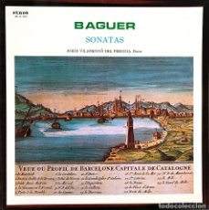 Discos de vinilo: BAGUER SONATAS JORDI VILAPRINYO DEL PERUGIA PIANO LP ETNOS 02-A-XX. Lote 245757460