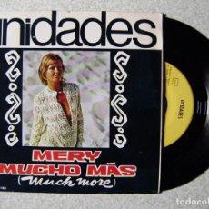 Discos de vinilo: UNIDADES.MERY-MUCHO MAS (MUCH MORE)...EX...ROCK PSYCH. Lote 245766690