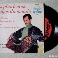 Discos de vinilo: MIGUEL CLARENZO ET SON ORCHESTRE.TANGOS.A MEDIA LUZ + 3...EX. Lote 245768450
