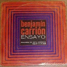 Discos de vinilo: CARRIÓN, BENJAMÍN - ENSAYO - DISCO LP. Lote 245783665