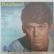 Discos de vinilo: RAPHAEL. EP. SELLO GAMMA. EDITADO EN MEXICO.. Lote 245865200