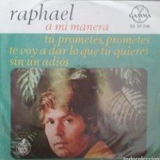 Discos de vinilo: RAPHAEL. EP. SELLO GAMMA. EDITADO EN MEXICO.. Lote 245881270