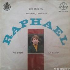 Discos de vinilo: RAPHAEL. EP. SELLO GAMMA/ HISPAVOX. EDITADO EN MEXICO. Lote 245881610