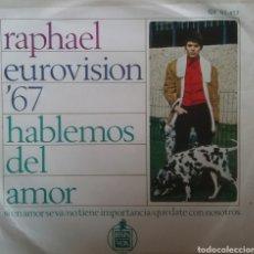 Discos de vinilo: RAPHAEL (EUROVISIÓN 67). EP. SELLO GAMMA/ HISPAVOX. EDITADO EN MÉXICO.. Lote 245883130