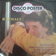 Discos de vinilo: RAPHAEL. EP PROMOCIONAL. SELLO HISPAVOX. EDITADO EN MÉXICO.. Lote 245884025