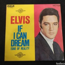 Disques de vinyle: SINGLE ELVIS PRESLEY, IF I CAN DREAM, EDGE OF REALITY.  . Lote 245893095