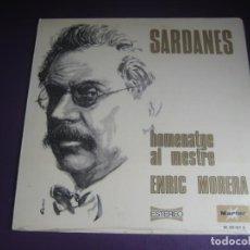 Discos de vinilo: COBLA MUNICIPAL CIUTAT DE BARCELONA – SARDANES: HOMENATGE AL MESTRE ENRIC MORERA LP MARFER 1973 -. Lote 245895835