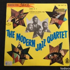 Discos de vinilo: SINGLE, THE MODERN JAZZ QUARTET. APUNTE N 9 , PATINANDO EN CENTRAL PARK.. Lote 245904035