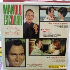 Discos de vinilo: MANOLO ESCOBAR - ÉXITOS DE PELÍCULAS - LP. SELLO BELTER 1967. Lote 245908255