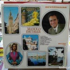 Discos de vinilo: MANOLO ESCOBAR - SEVILLANAS - LP. SELLO BELTER 1971. Lote 245908320