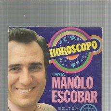 Discos de vinilo: MANOLO ESCOBAR HOROSCOPO. Lote 245908345