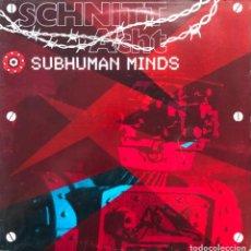 Discos de vinilo: SCHNITT ACHT  SUBHUMAN MINDS MAJII RECORDS TCRC 9402 LP, USA EBM, INDUSTRIAL MUY BUSCADO. Lote 245909365