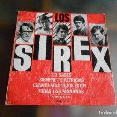Discos de vinilo: SIREX, LOS, EP, LO SABES + 3 , AÑO 1966. Lote 245909675