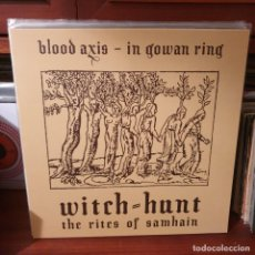 Discos de vinilo: BLOOD AXIS / WITCH = HUNT / NOT ON LABEL. Lote 245921090